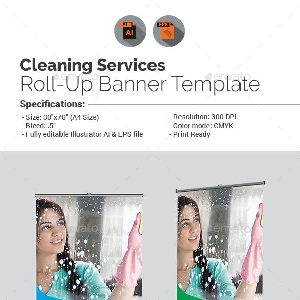 Cleaning Services Roll-Up Banner