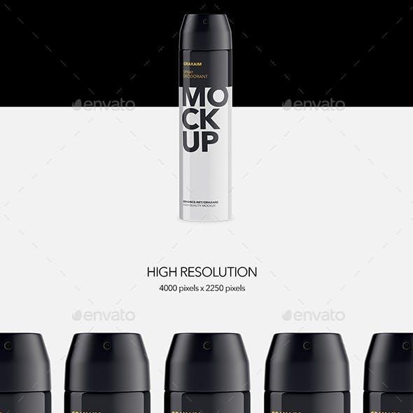 Metallic Spray Bottle Deodorant - Mockup