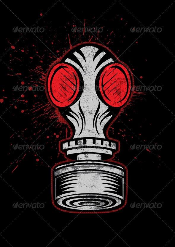 Gas mask - Decorative Symbols Decorative