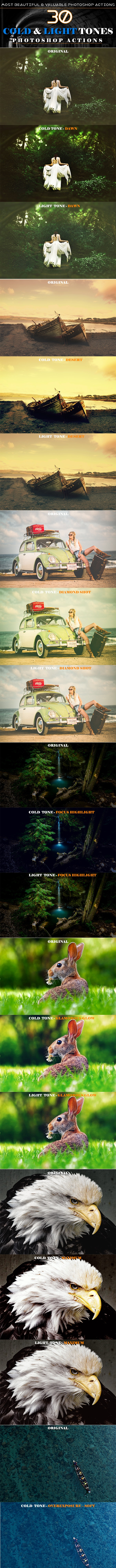 Cold and Light Tones - Actions Photoshop
