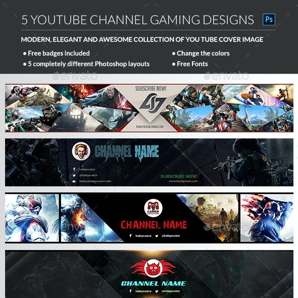 YouTube Backgrounds & Buttons from GraphicRiver