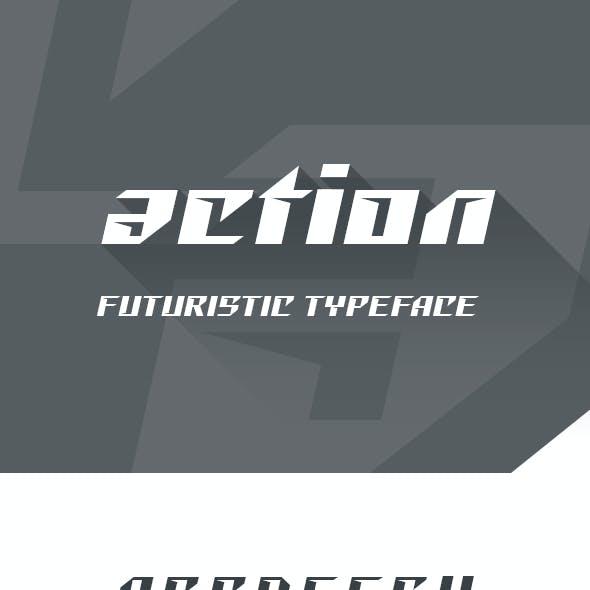 Action Futuristic Font