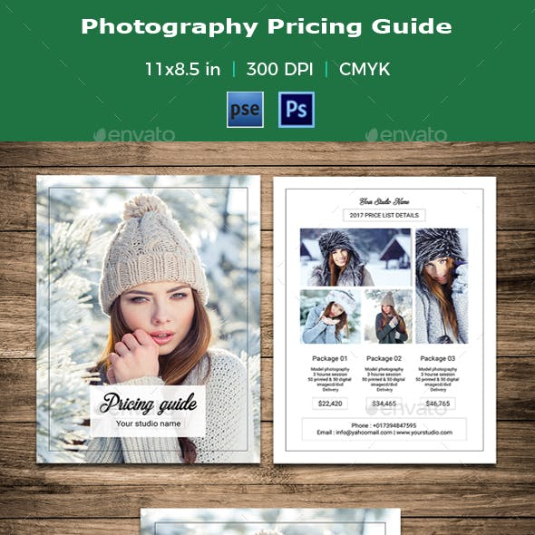 Photography Pricing Guide / Price List - V10