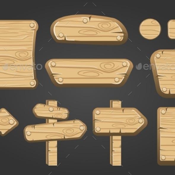 Big Set of Wooden Boards