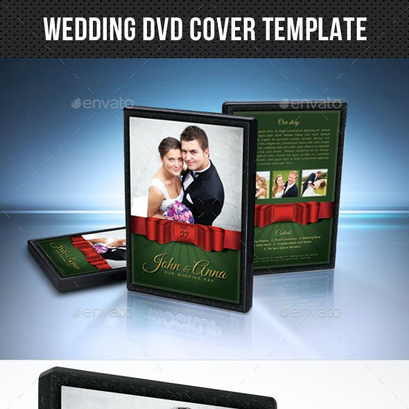 Wedding DVD Cover Template 21