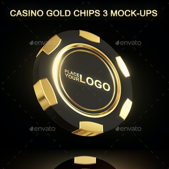 Casino Gold Chip Mockup