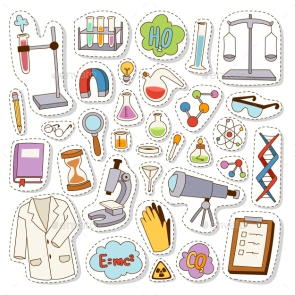 Laboratory Icons Vector Set