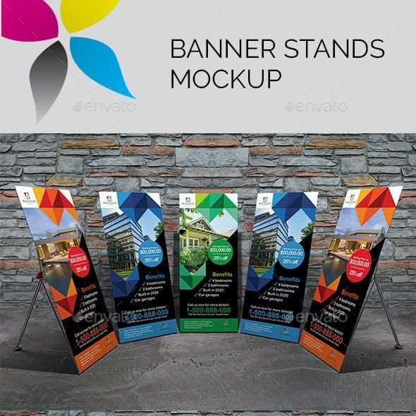 Banner Stands Mockup