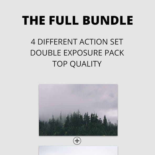 Pro Double Exposure Action Bundle Pack