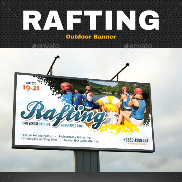 Rafting Outdoor Banner V2