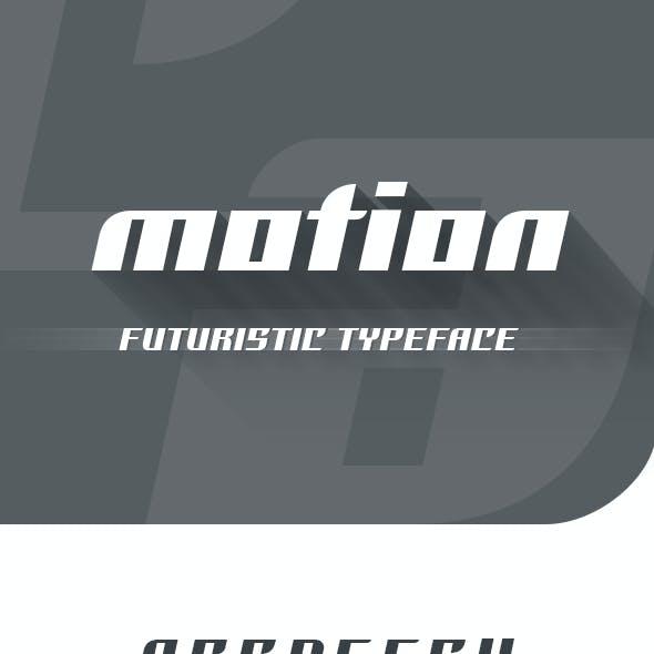 Motion Futuristic Font