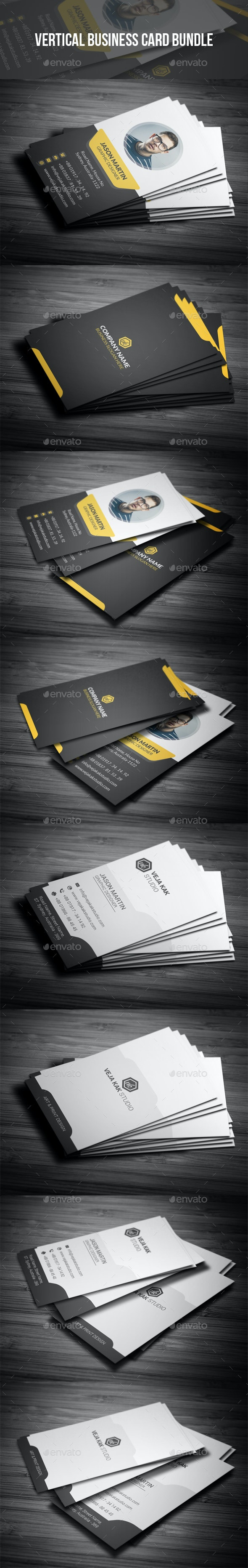 Vertical Business Card Bundle - Creative Business Cards