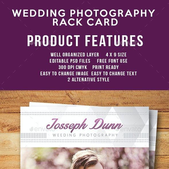 Wedding Photography Rack Card