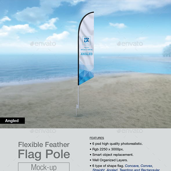 Feather Flag Pole Mock-up