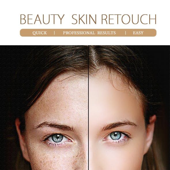 Beauty Skin Retouch-Photoshop Action
