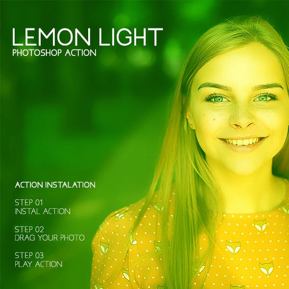 Lemon Lights - Photoshop Action #53