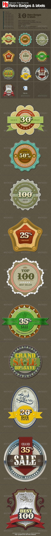 10 Retro Badges