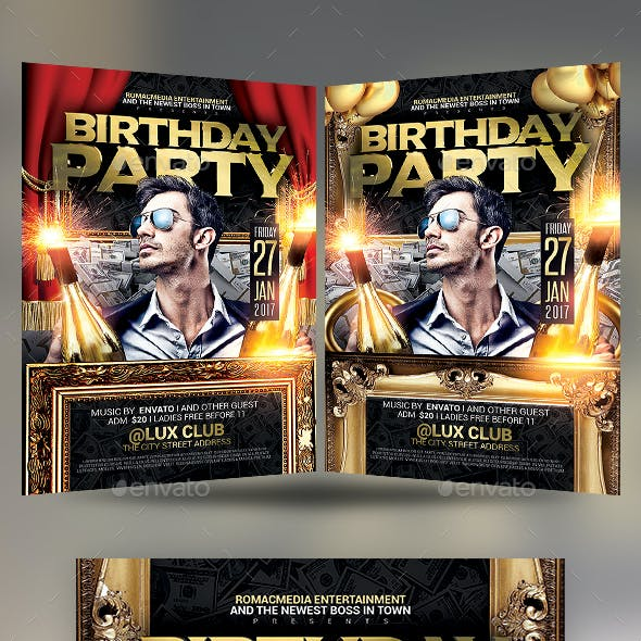 Anniversary Birthday Party Flyer