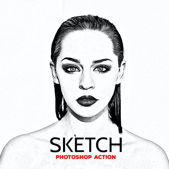 Sketch - Photoshop Action #58