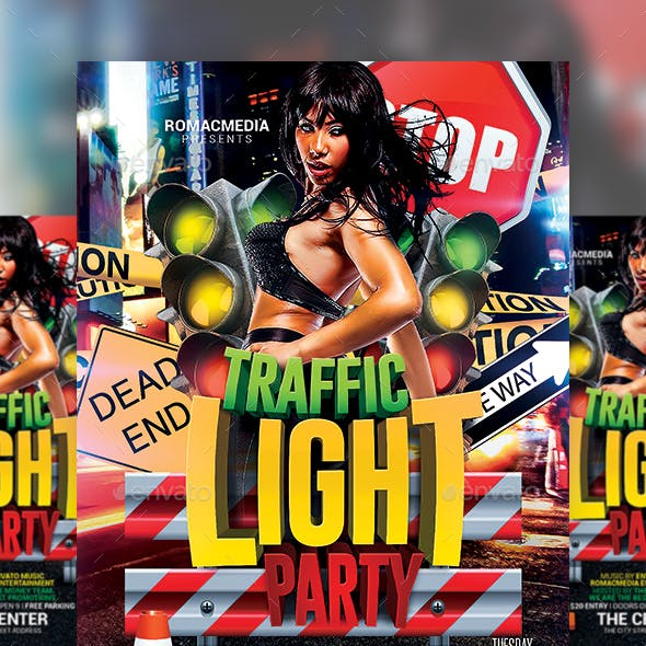 Traffic Light Party Flyer