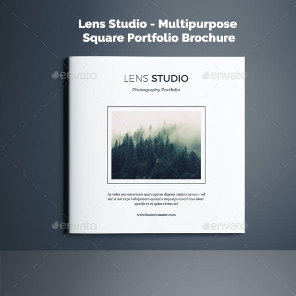 Lens Studio - Multipurpose Square Portfolio Brochure