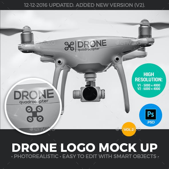 Drone Logo Mock-Up - Present Your Logo directly on the quadcopter