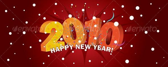 Happy new year! 2010 - New Year Seasons/Holidays