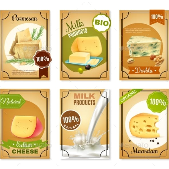 Milk Products Vertical Banners