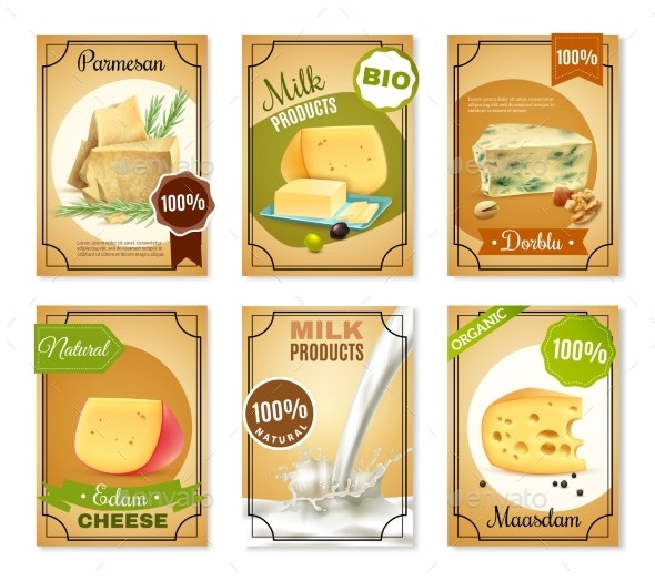 Milk Products Vertical Banners - Abstract Conceptual