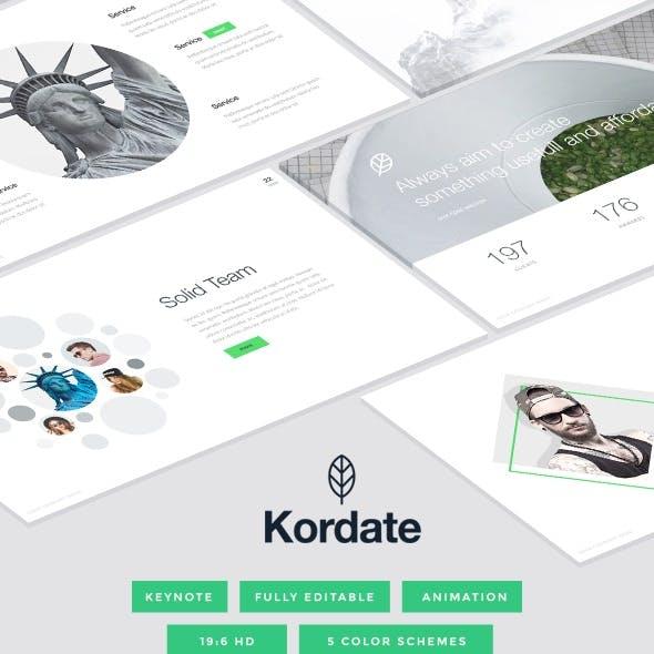 Kordate - Modern and Professional Keynote Template