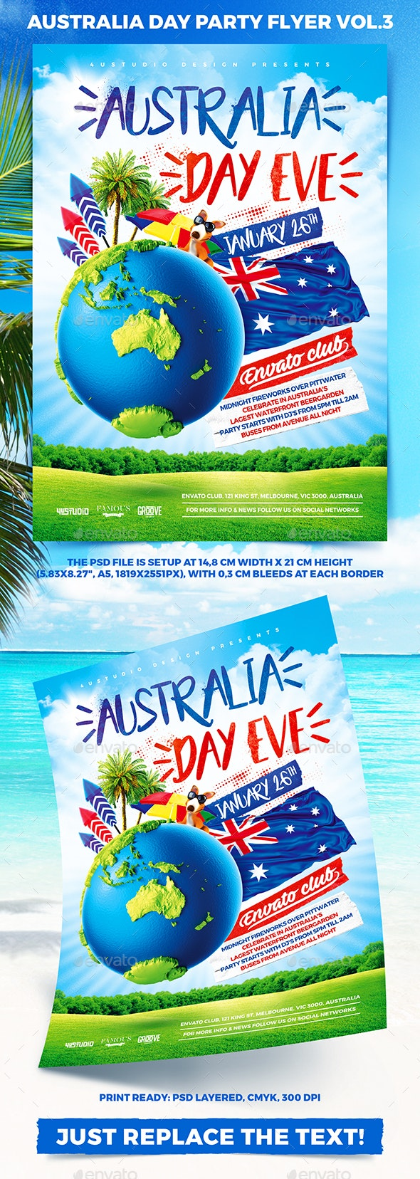 Australia Day Party Flyer vol.3 - Holidays Events