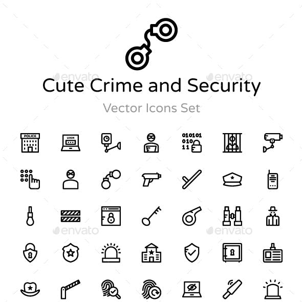 90+ Crime and Security Vector Icon