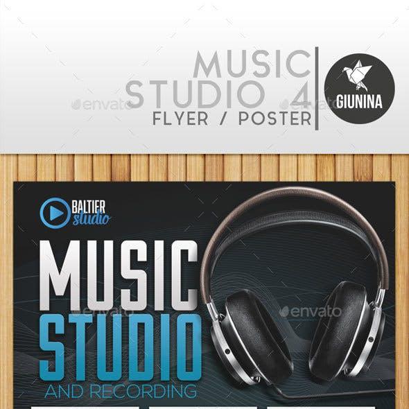 Music Studio 4 Flyer/Poster