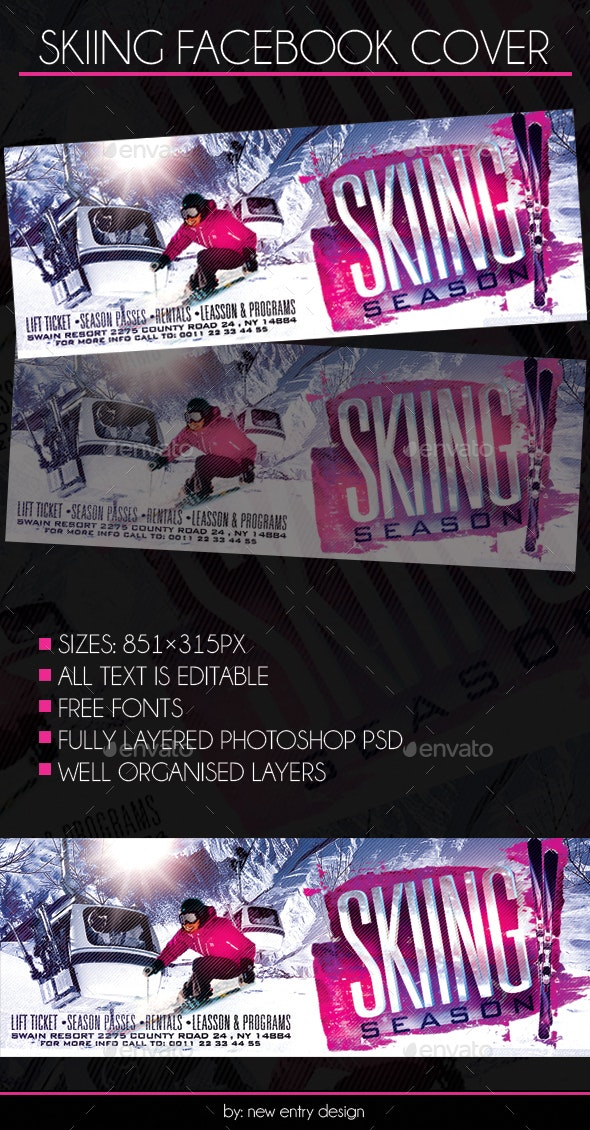 Skiing Facebook Cover - Facebook Timeline Covers Social Media