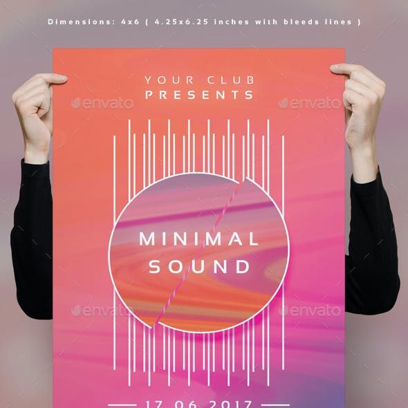 Minimal Sound Club Flyer Template