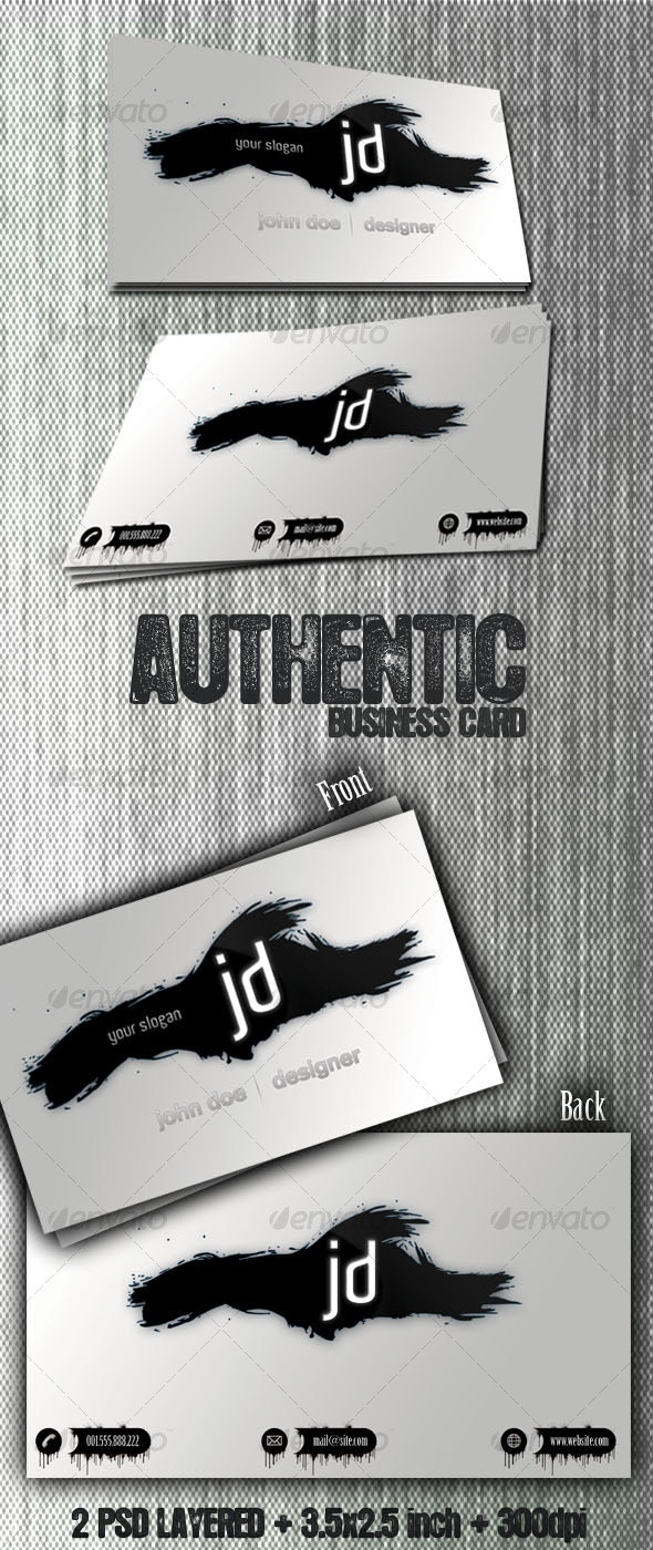 Authentic - Business Card - Creative Business Cards