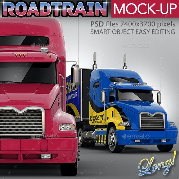 Semi-Trailer Truck Mock-up Based Mack Pinnacle