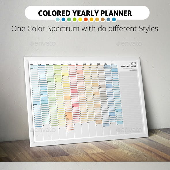2017 Colored Wall Year Planner