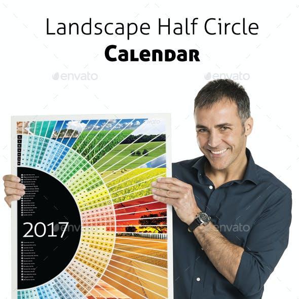 Landscape Half Circle Calendar 2017 + A1