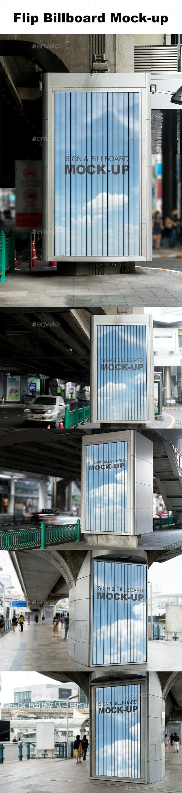 Street Billboard Mockup Template - Product Mock-Ups Graphics