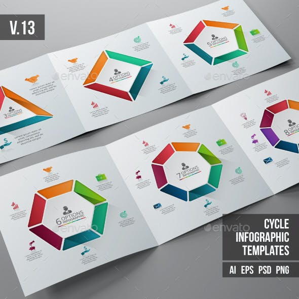 Infographics template set v.13