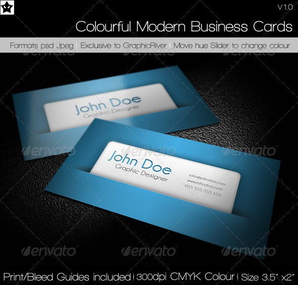 Colorful Modern Business Cards - Creative Business Cards