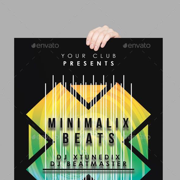 Minimalix Beats Club Flyer Template