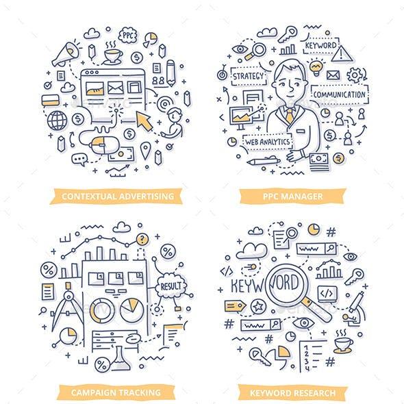 Pay Per Click Doodle Illustrations