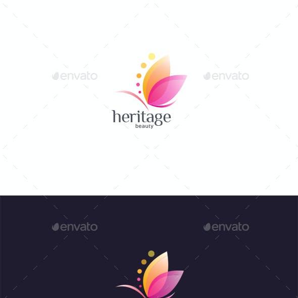 Heritage Beauty (Butterfly) logo