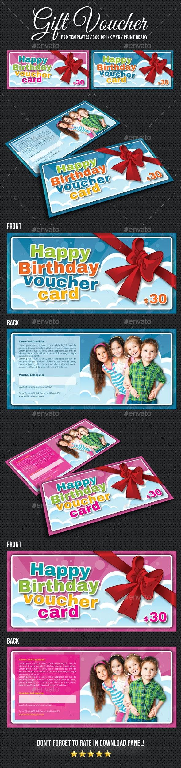 Kid Birthday Gift Voucher - Birthday Greeting Cards