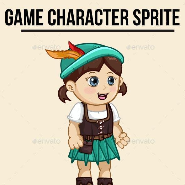 Robin Hood Little Girl Sprite Character