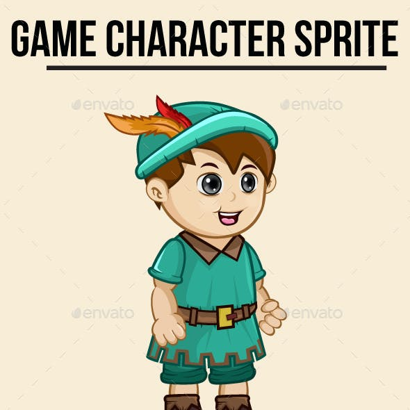 Robin Hood Little Boy Sprite Character