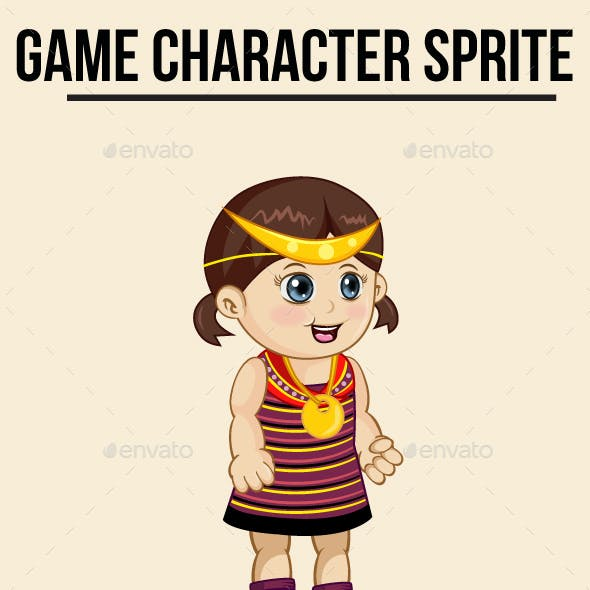 Little Girl Southeast Asian Sprite Character