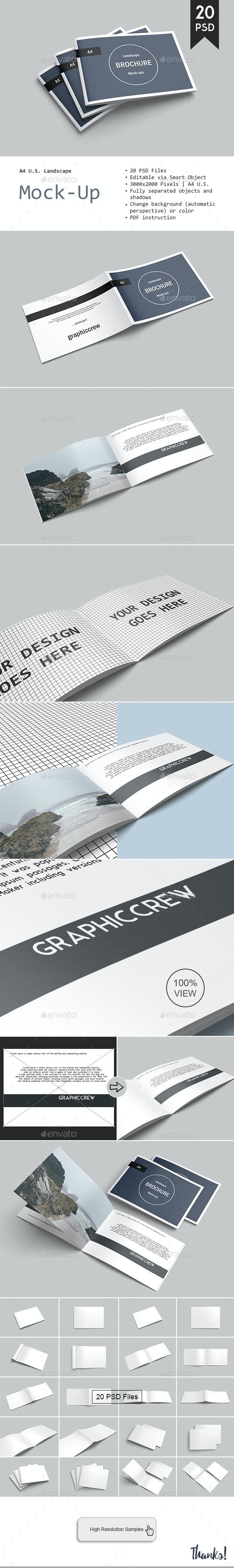 Landscape Brochure Mockup - Brochures Print